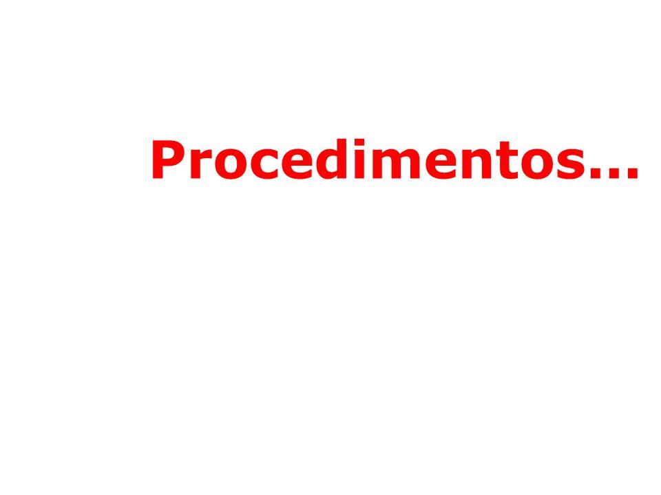 Procedimentos...
