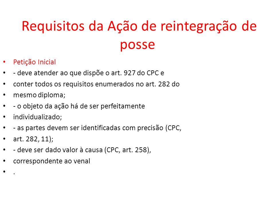 Requisitos da Ação de reintegração de posse