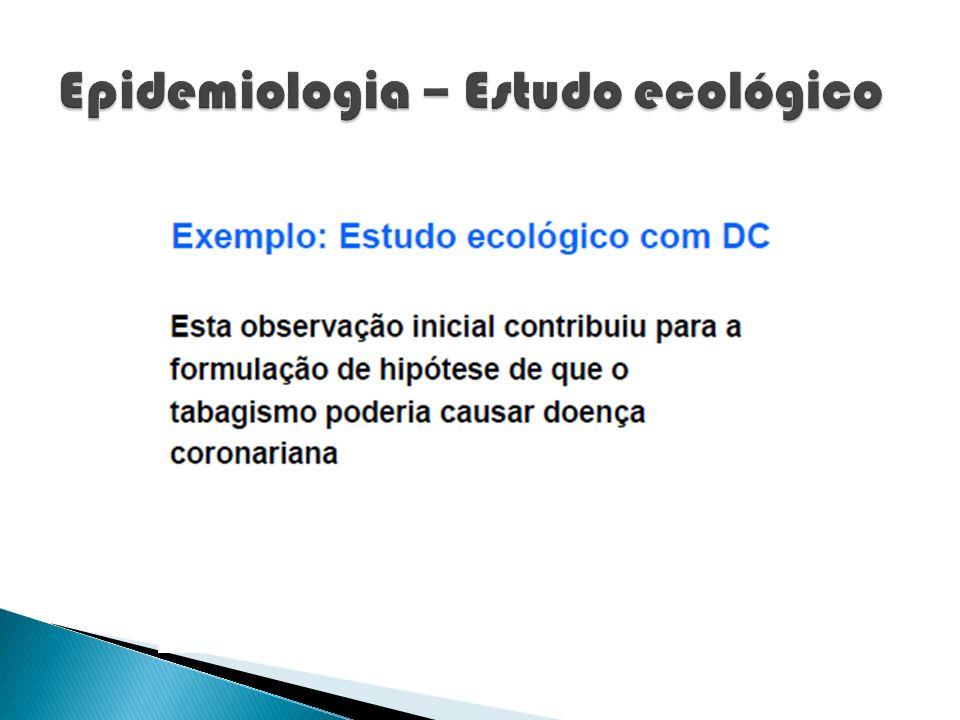 Epidemiologia – Estudo ecológico