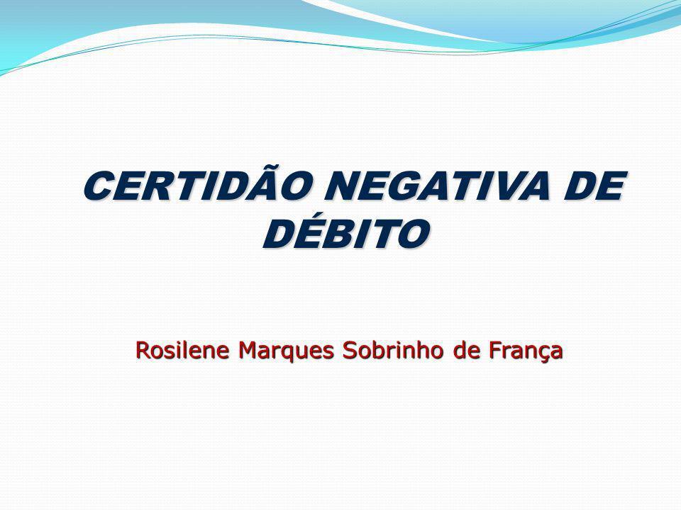 CERTIDÃO NEGATIVA DE DÉBITO