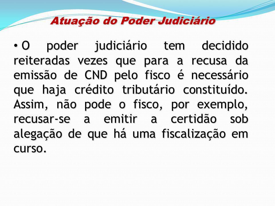 Atuação do Poder Judiciário