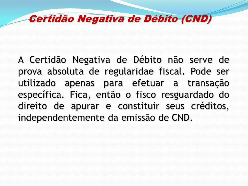 Certidão Negativa de Débito (CND)
