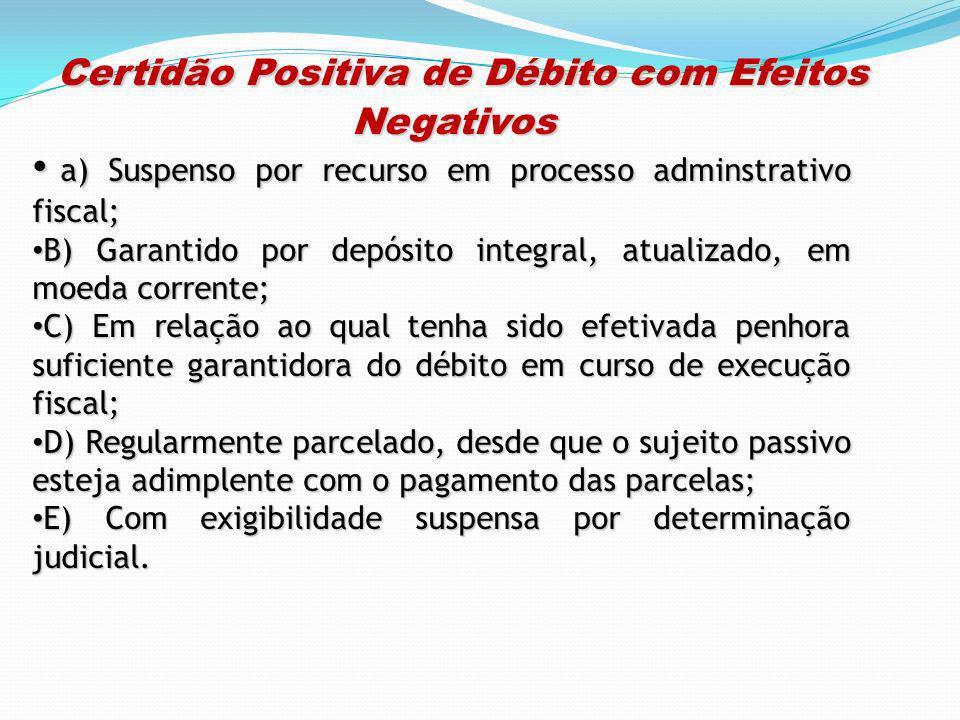 Certidão Positiva de Débito com Efeitos Negativos