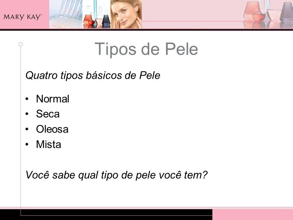 Tipos de Pele Quatro tipos básicos de Pele Normal Seca Oleosa Mista