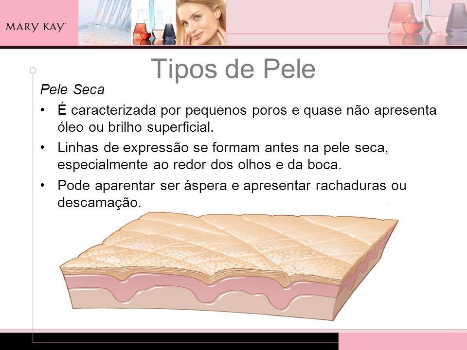 Tipos de PelePele Seca. É caracterizada por pequenos poros e quase não apresenta óleo ou brilho superficial.