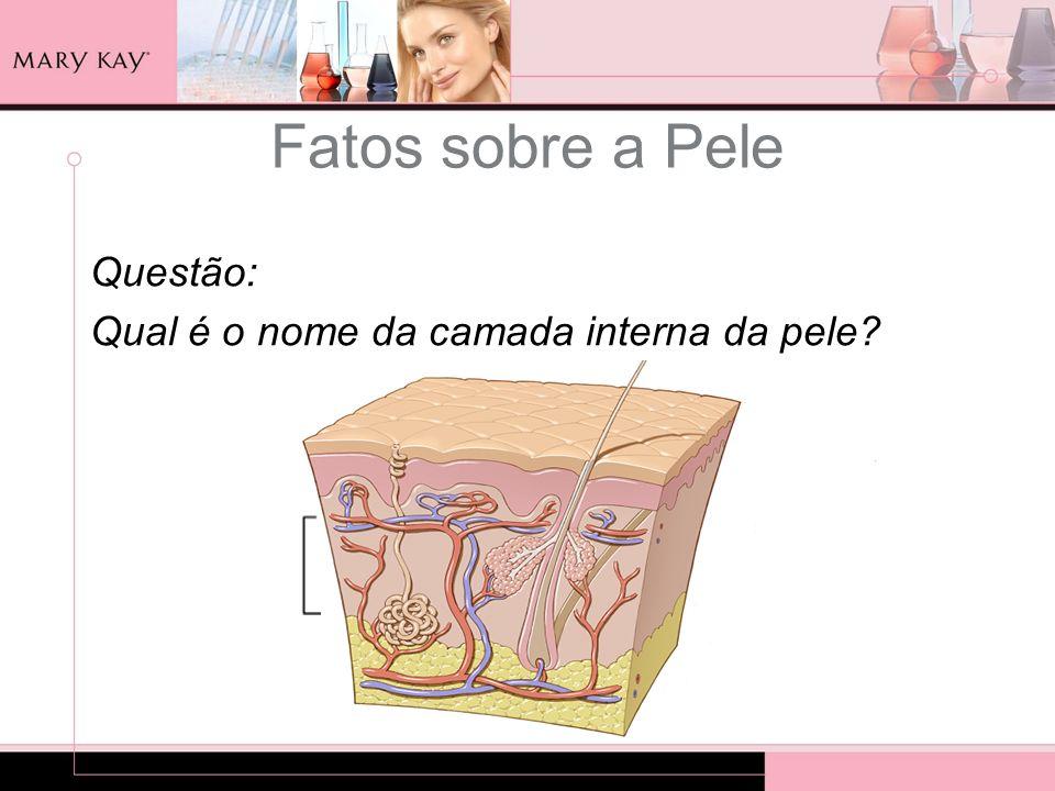 Fatos sobre a Pele Questão: Qual é o nome da camada interna da pele