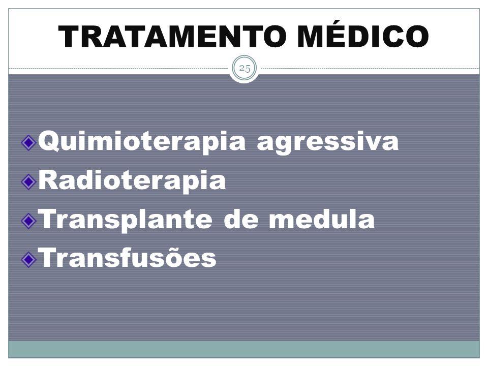 TRATAMENTO MÉDICO Quimioterapia agressiva Radioterapia