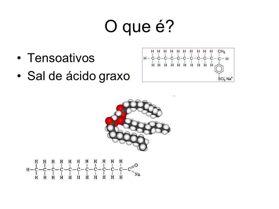 O que é Tensoativos Sal de ácido graxo