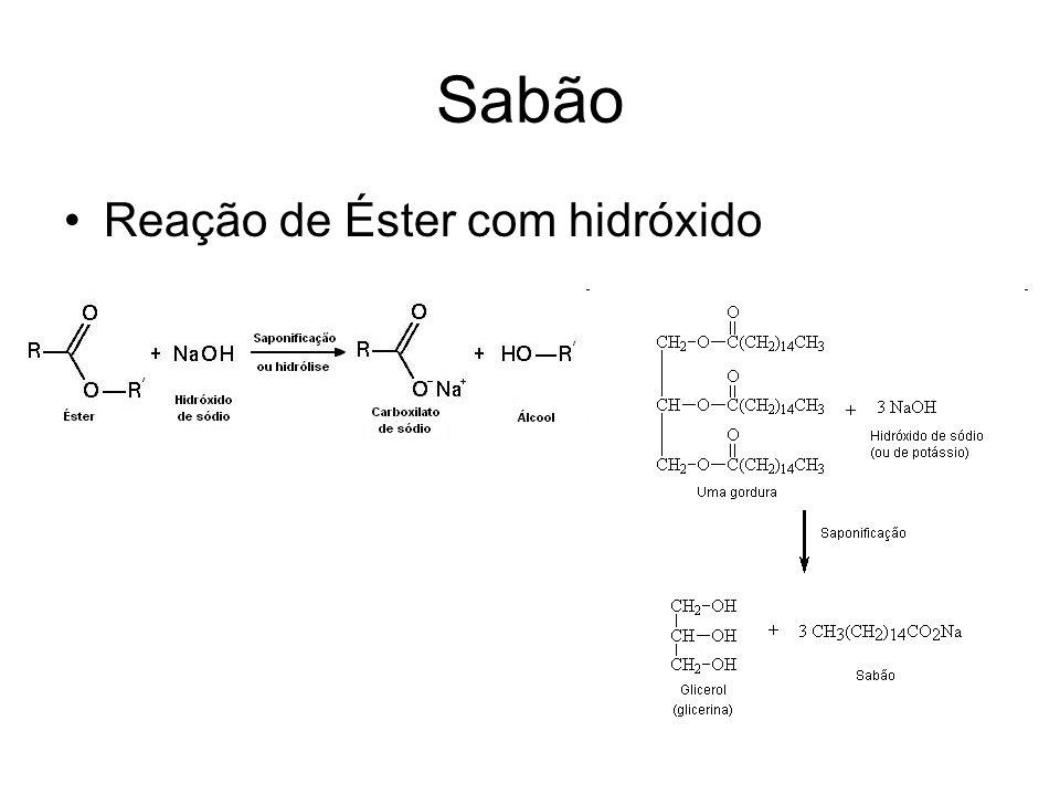 Sabão Reação de Éster com hidróxido