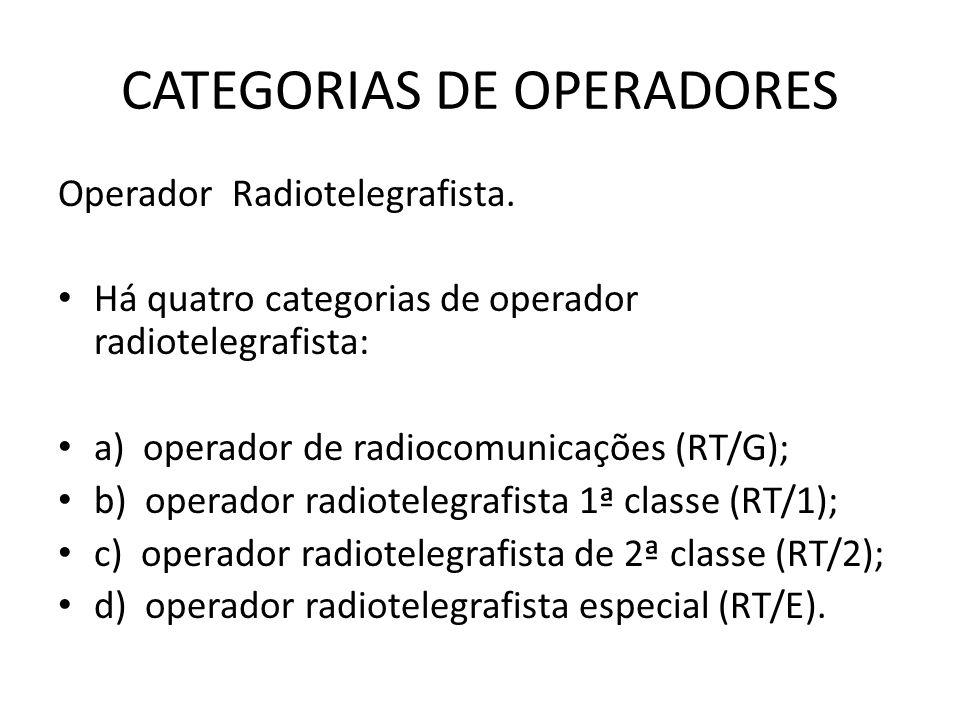 CATEGORIAS DE OPERADORES