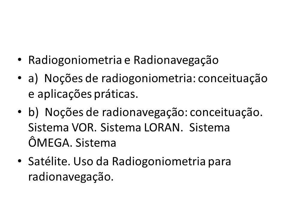 Radiogoniometria e Radionavegação