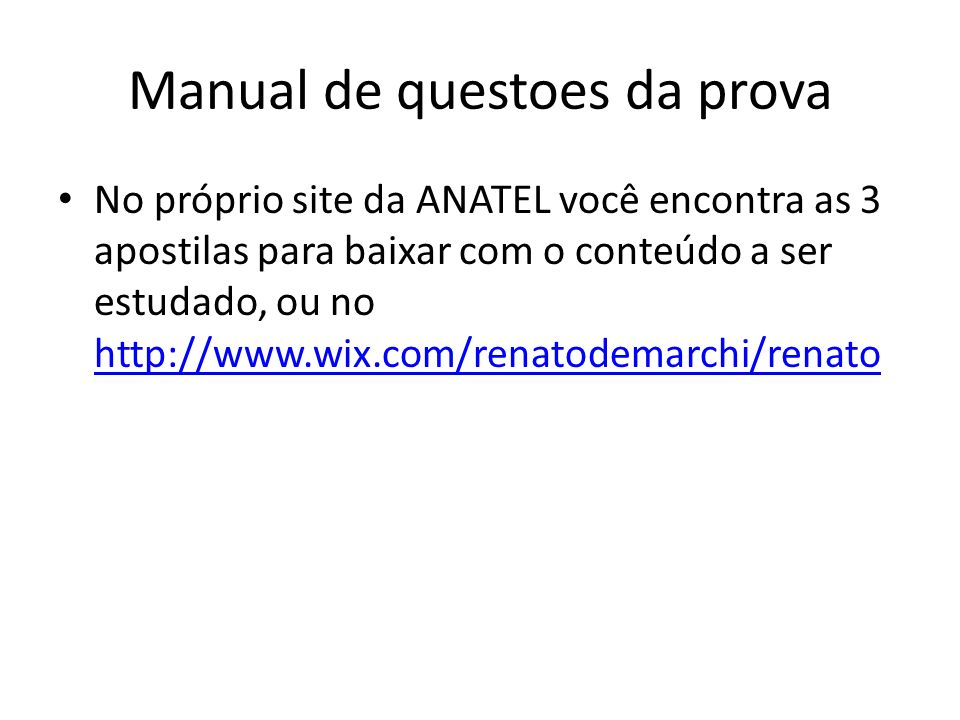 Manual de questoes da prova