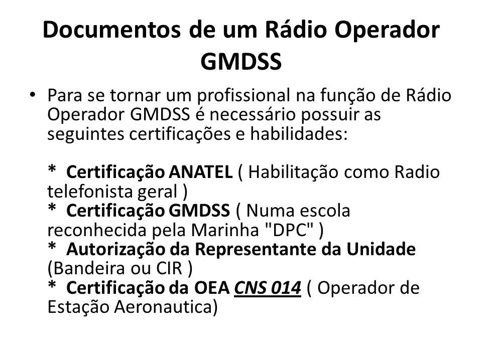 Documentos de um Rádio Operador GMDSS