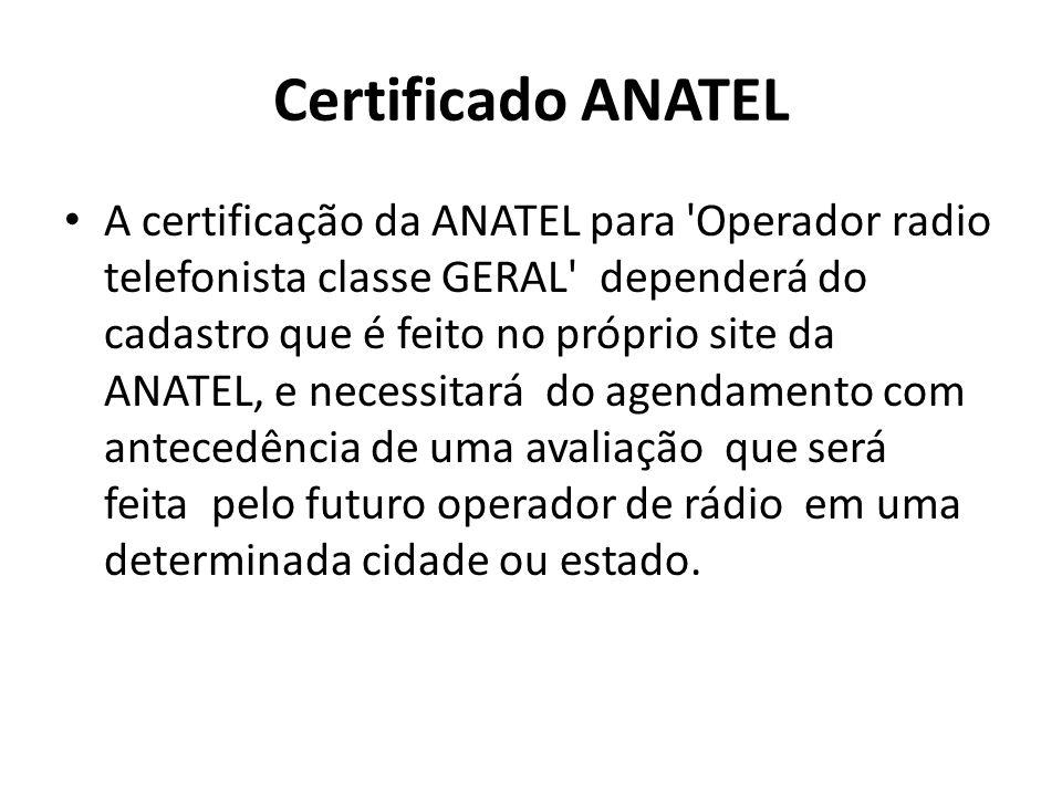 Certificado ANATEL