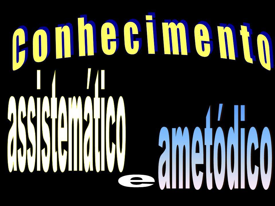 Conhecimento assistemático ametódico e