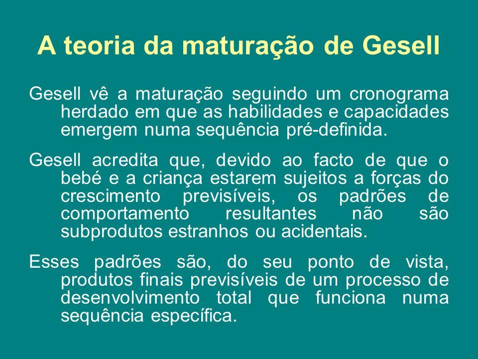 A teoria da maturação de Gesell