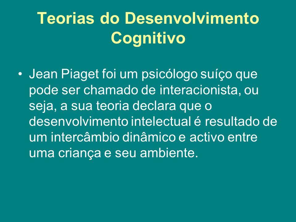 Teorias do Desenvolvimento Cognitivo