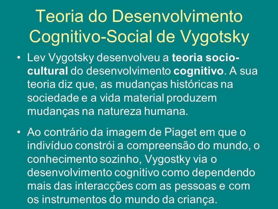 Teoria do Desenvolvimento Cognitivo-Social de Vygotsky