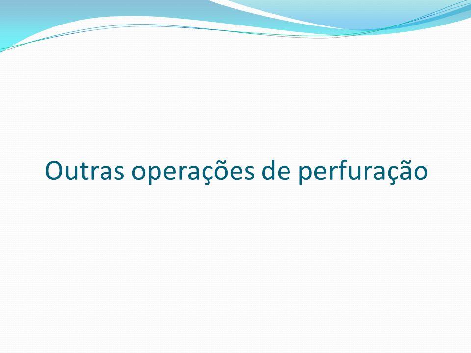 Outras operações de perfuração