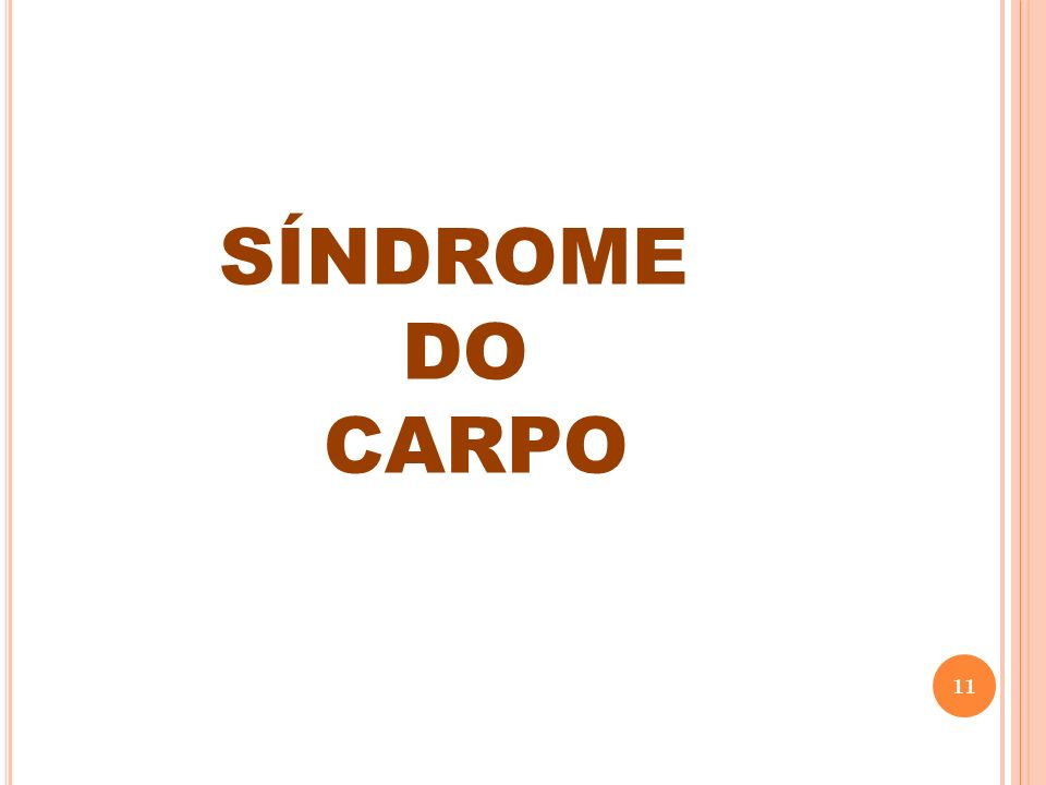 SÍNDROME DO CARPO