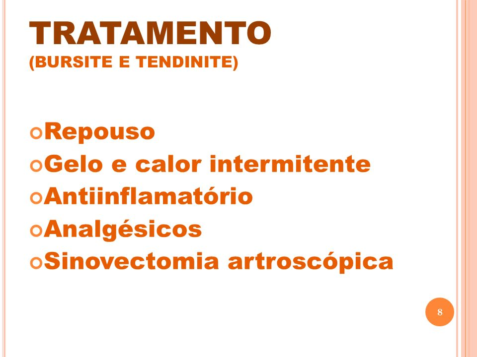 TRATAMENTO (BURSITE E TENDINITE)