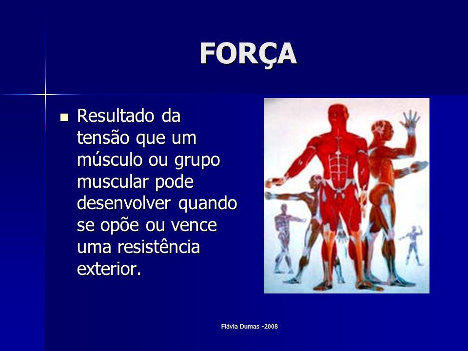 FORÇA Resultado da tensão que um músculo ou grupo muscular pode desenvolver quando se opõe ou vence uma resistência exterior.
