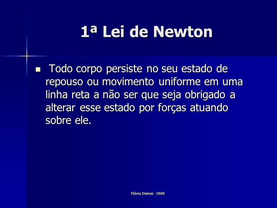 1ª Lei de Newton
