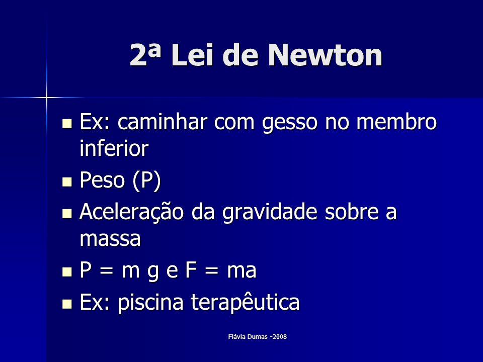 2ª Lei de Newton Ex: caminhar com gesso no membro inferior Peso (P)