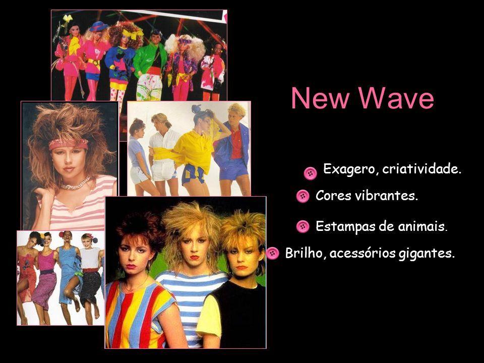 New Wave Exagero, criatividade. Cores vibrantes. Estampas de animais.