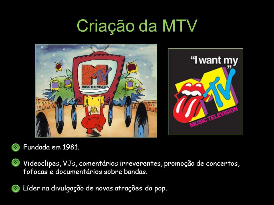 Criação da MTV Fundada em 1981.
