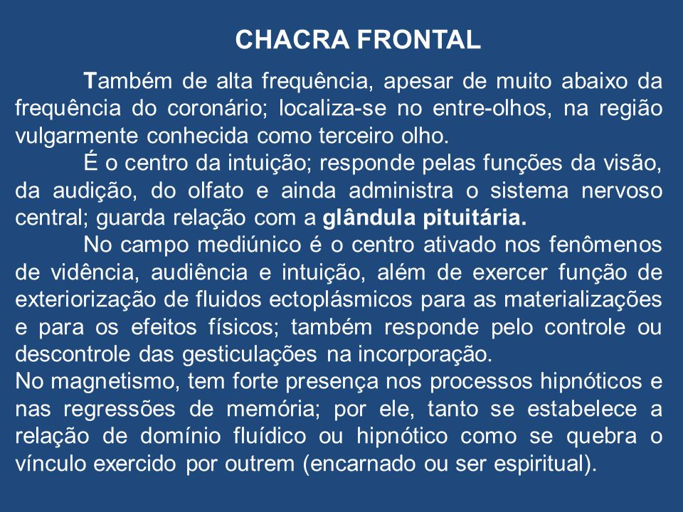 CHACRA FRONTAL