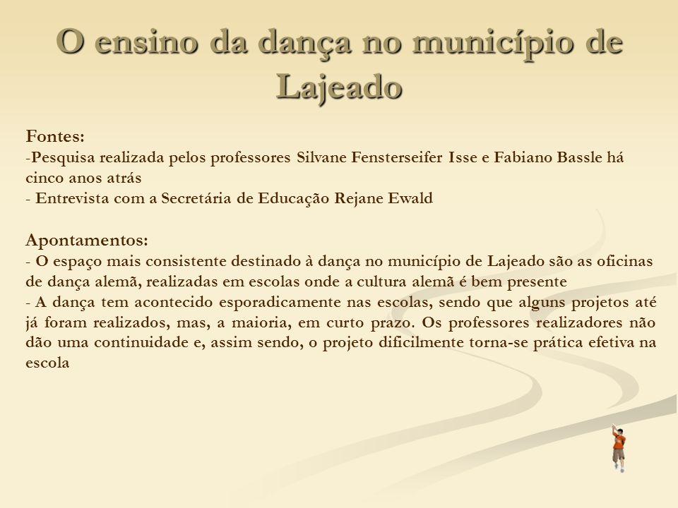 O ensino da dança no município de Lajeado