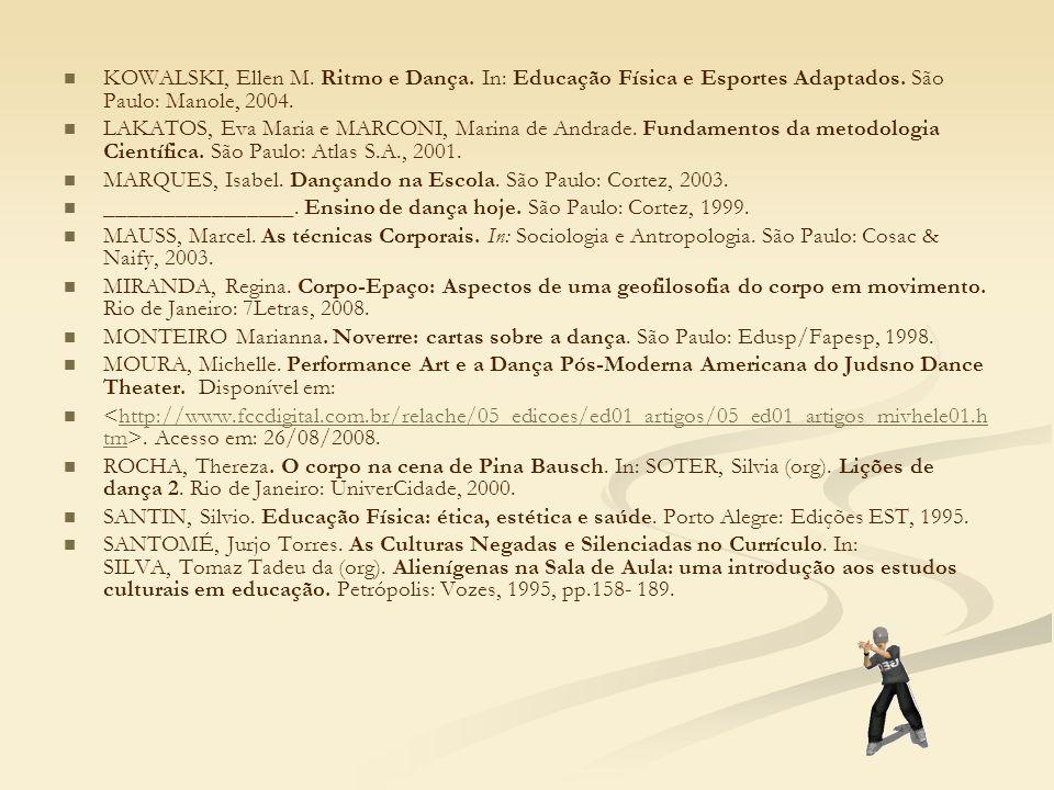 KOWALSKI, Ellen M. Ritmo e Dança
