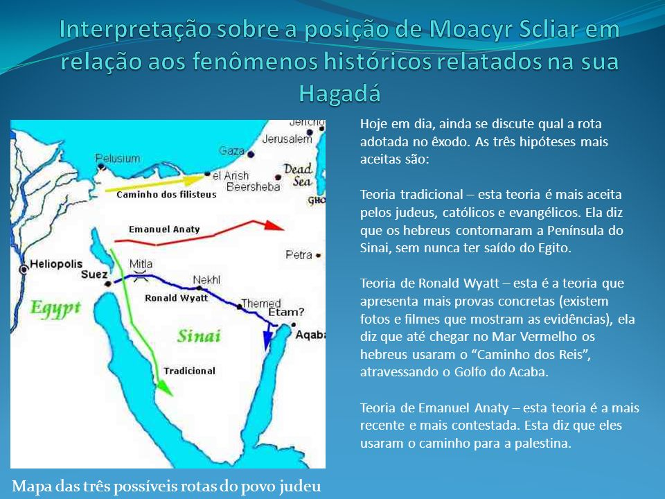 Interpretação sobre a posição de Moacyr Scliar em relação aos fenômenos históricos relatados na sua Hagadá