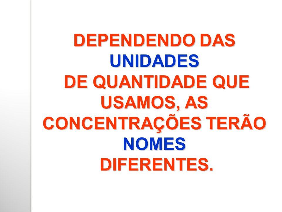 DEPENDENDO DAS UNIDADES