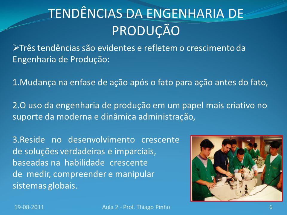 TENDÊNCIAS DA ENGENHARIA DE PRODUÇÃO