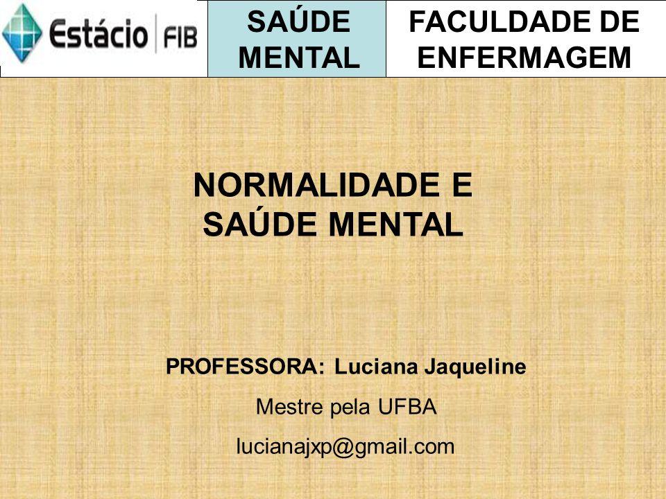 NORMALIDADE E SAÚDE MENTAL