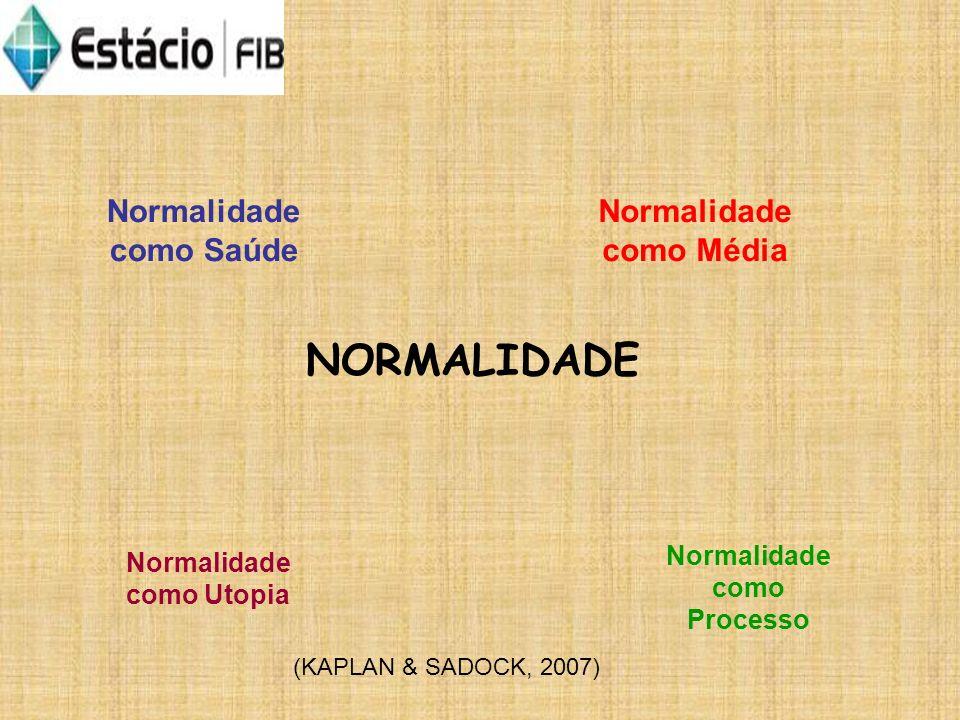 NORMALIDADE Normalidade como Saúde Normalidade como Média