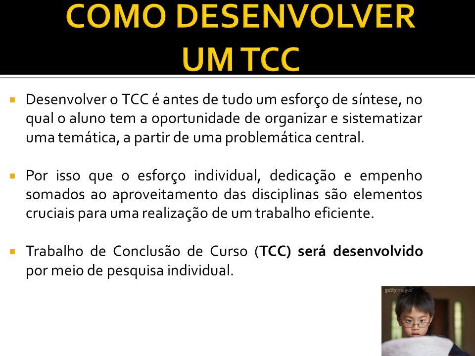COMO DESENVOLVER UM TCC