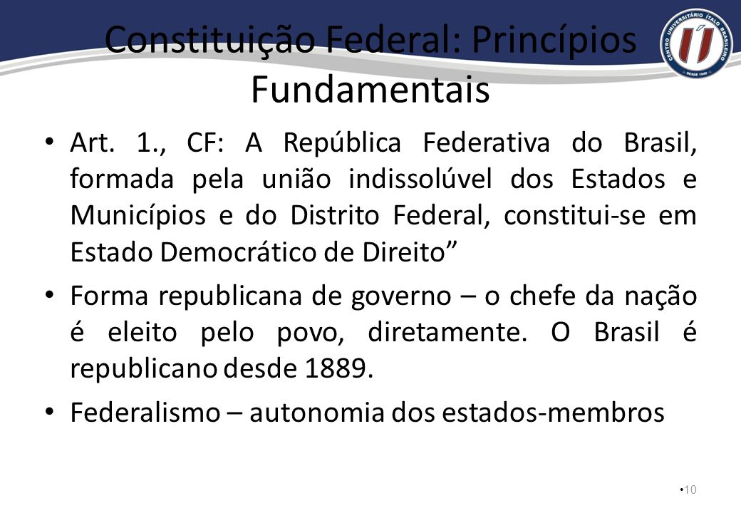 Constituição Federal: Princípios Fundamentais
