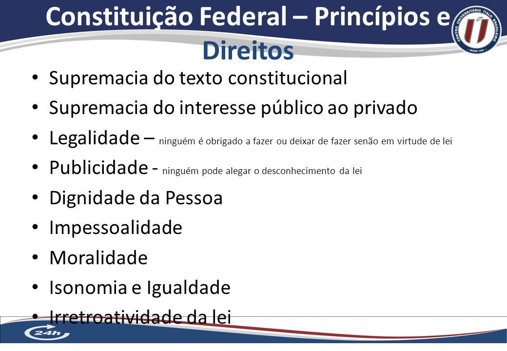 Constituição Federal – Princípios e Direitos