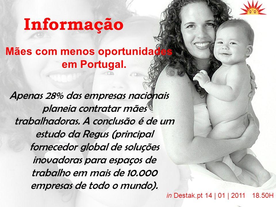 Mães com menos oportunidades em Portugal.