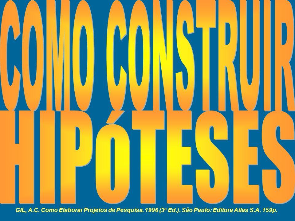 COMO CONSTRUIR HIPÓTESES