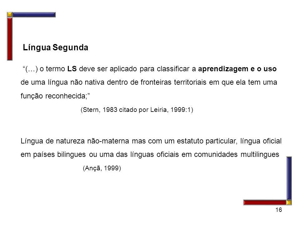 Língua Segunda