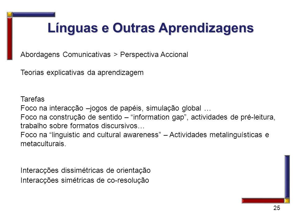 Línguas e Outras Aprendizagens