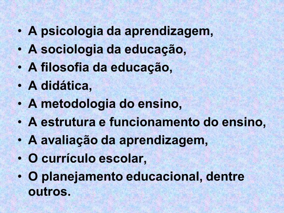 A psicologia da aprendizagem,