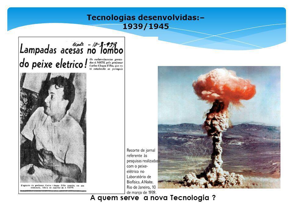 Tecnologias desenvolvidas:– 1939/1945