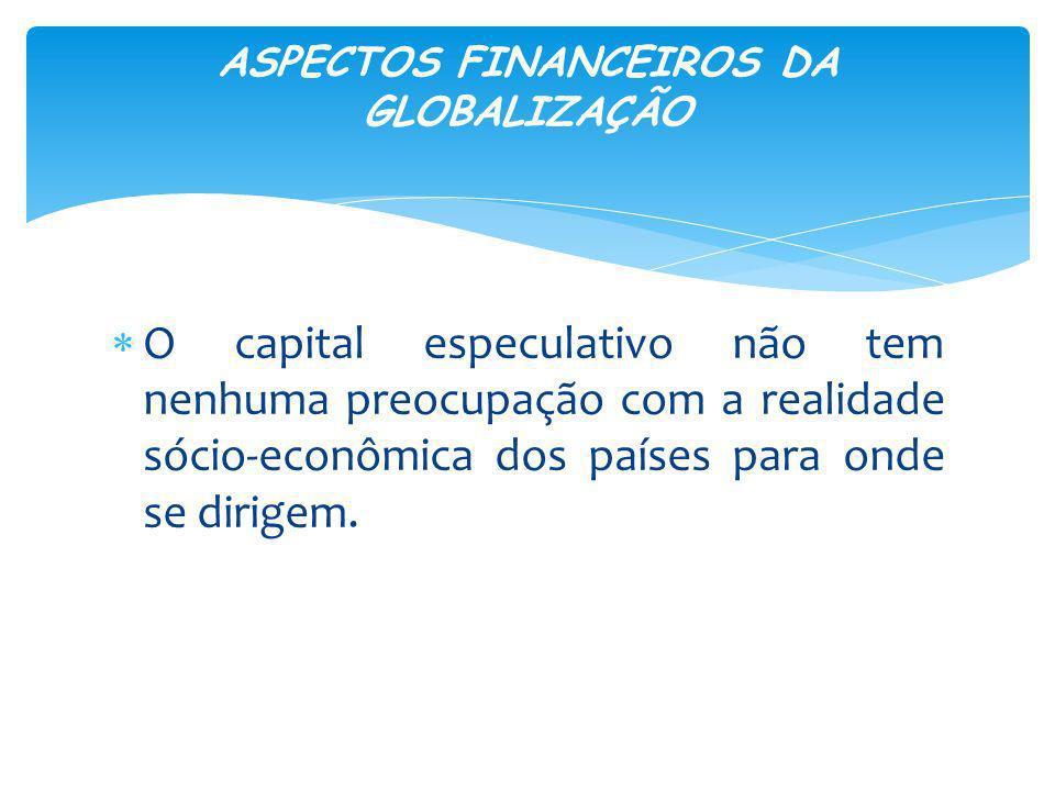 ASPECTOS FINANCEIROS DA GLOBALIZAÇÃO