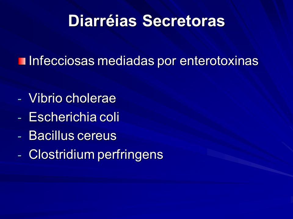 Diarréias Secretoras Infecciosas mediadas por enterotoxinas