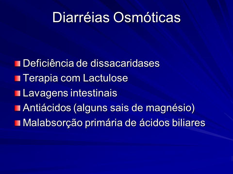 Diarréias Osmóticas Deficiência de dissacaridases